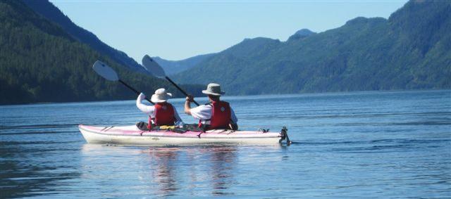 Kayaking in the Tahsis Inlet - Dave 7 Stella Richards